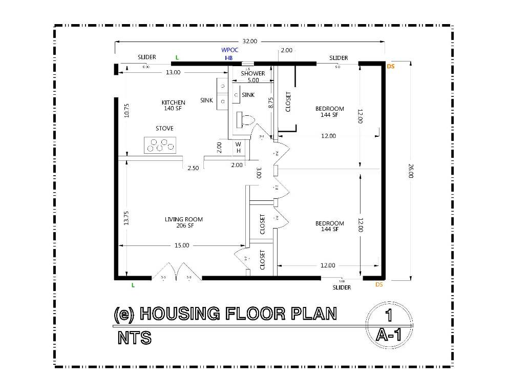 DETAIL-A-1 HOUSE FLOOR PLAN
