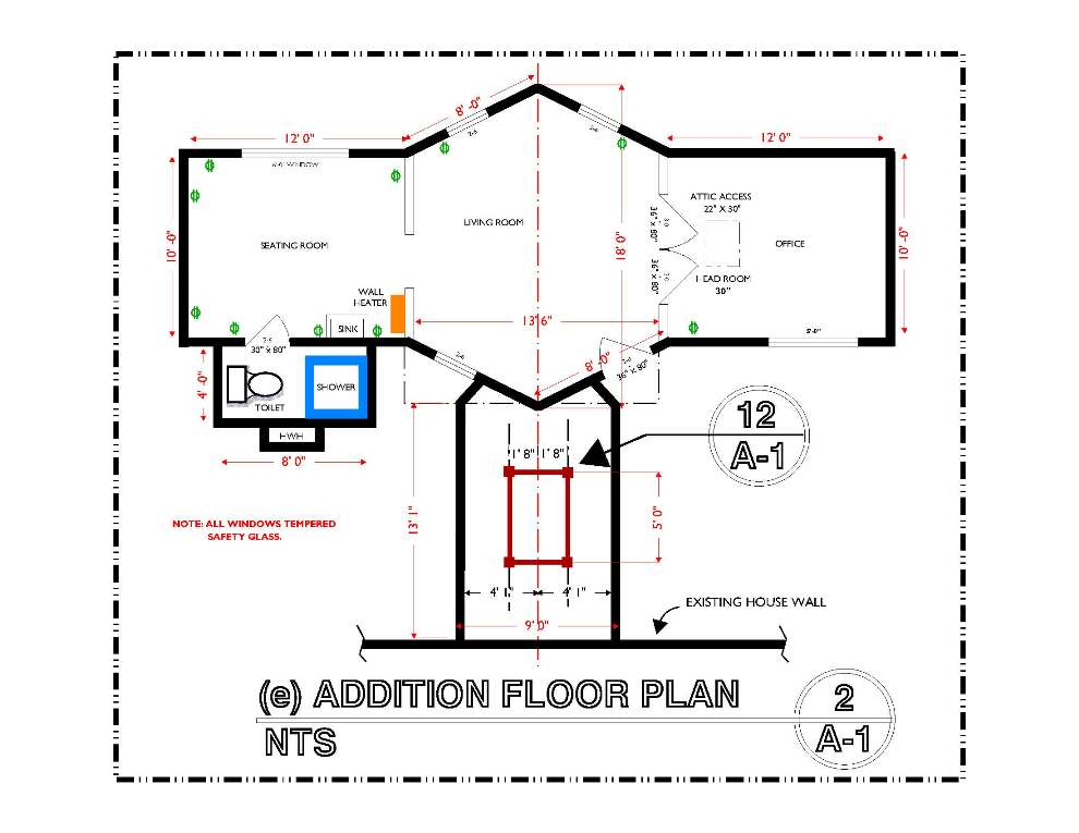 DETAIL-A-2 ADDITION FLOOR PLAN