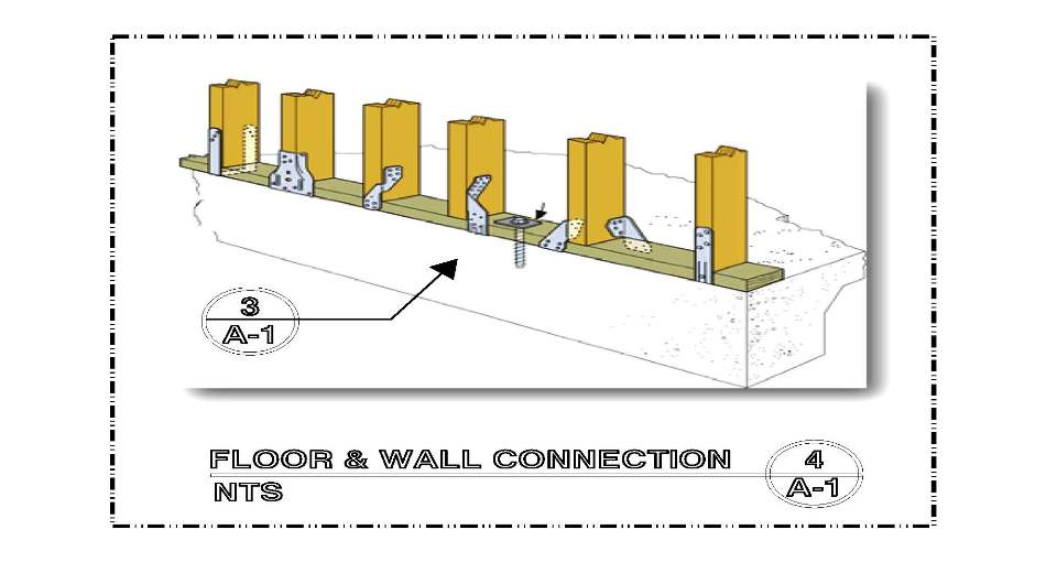 DETAIL-A-4 FLOOR & WALL CONNECTION