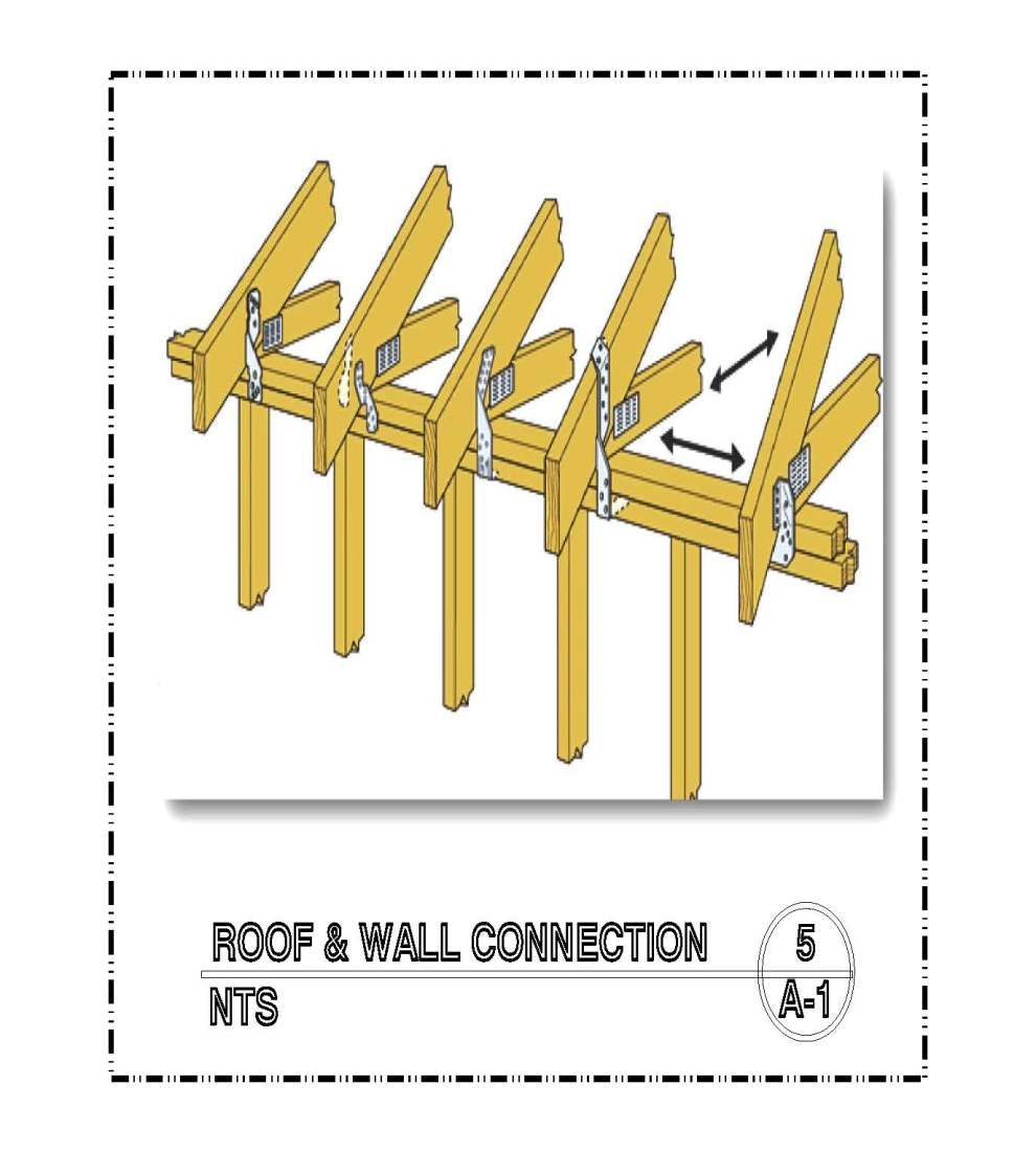 DETAIL-A-5 ROOF & WALL CONNECTION