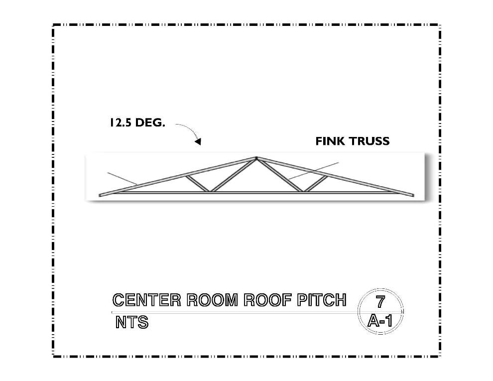 DETAIL-A-7 CENTER ROOF PITCH