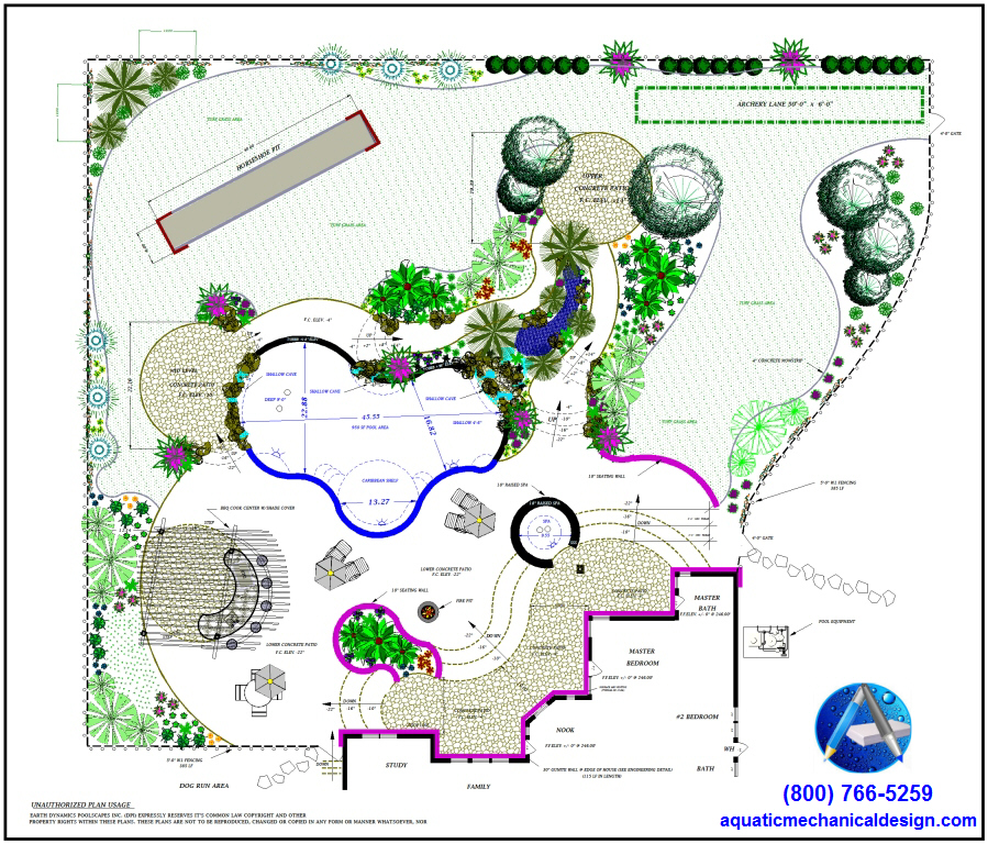 Landscape design architecture aquatic mechanical for Sample landscape plan