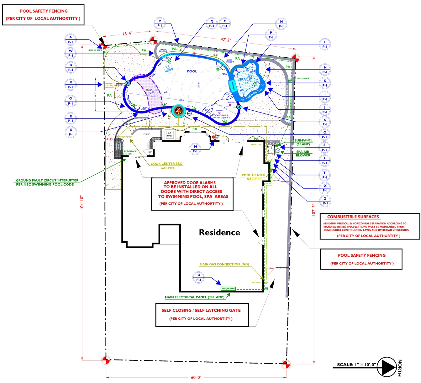 Swimming pool plans pdf american hwy for Pool design blueprints