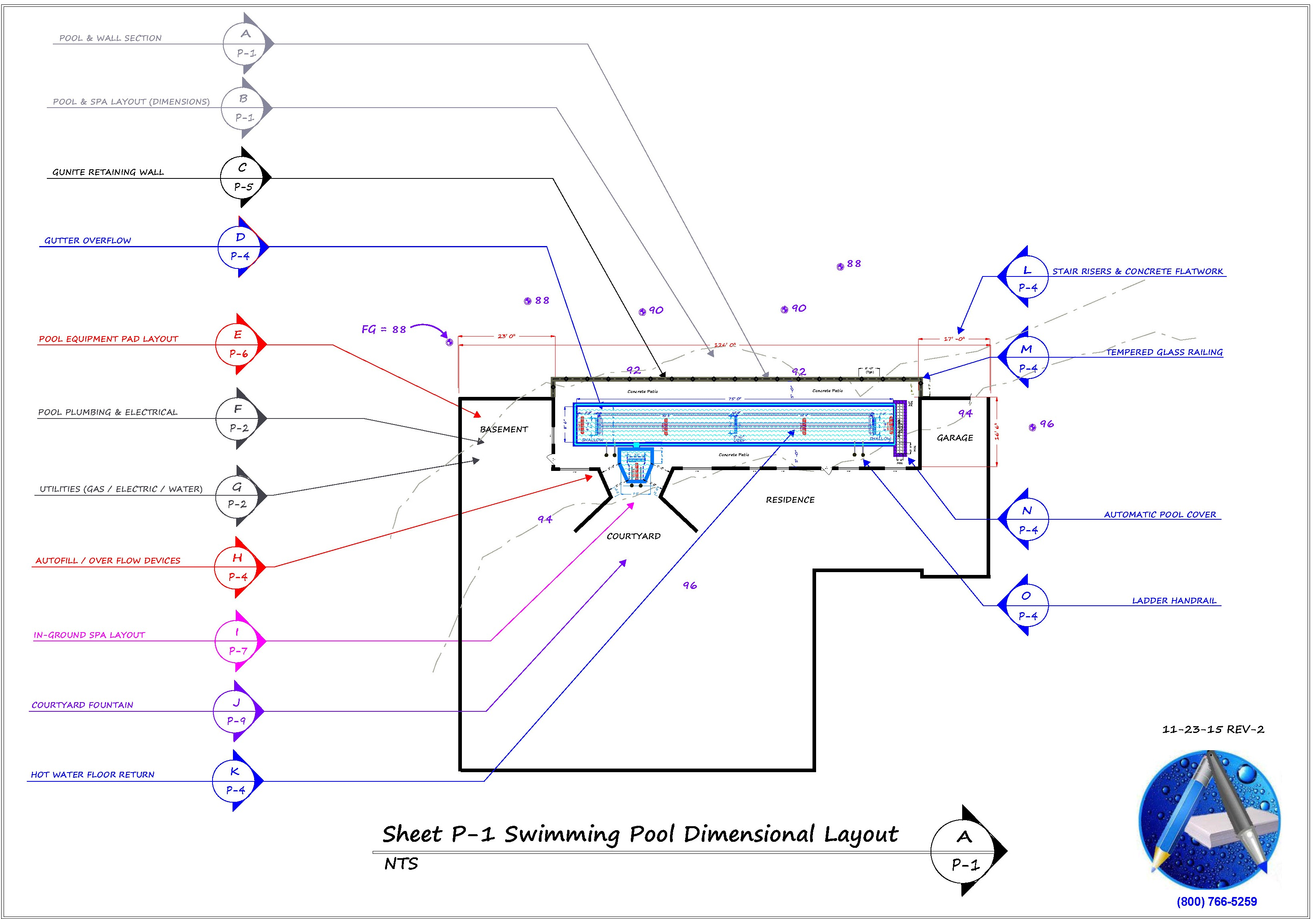 Sample 9 aquatic mechanical engineering 800 766 5259 for Pool layout design