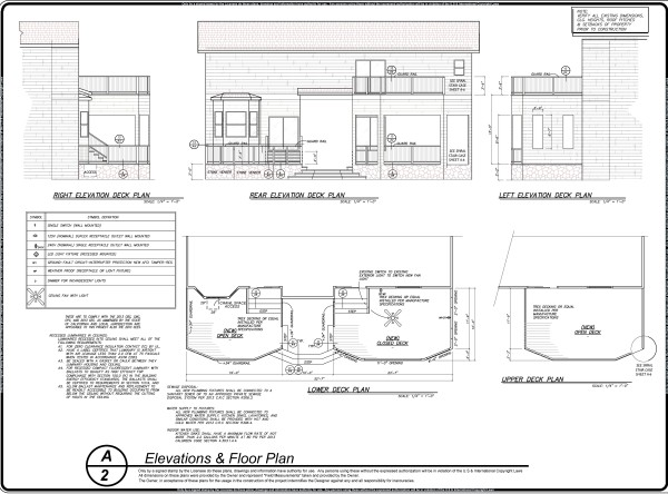 Sample Floor Plan & Elevation Design