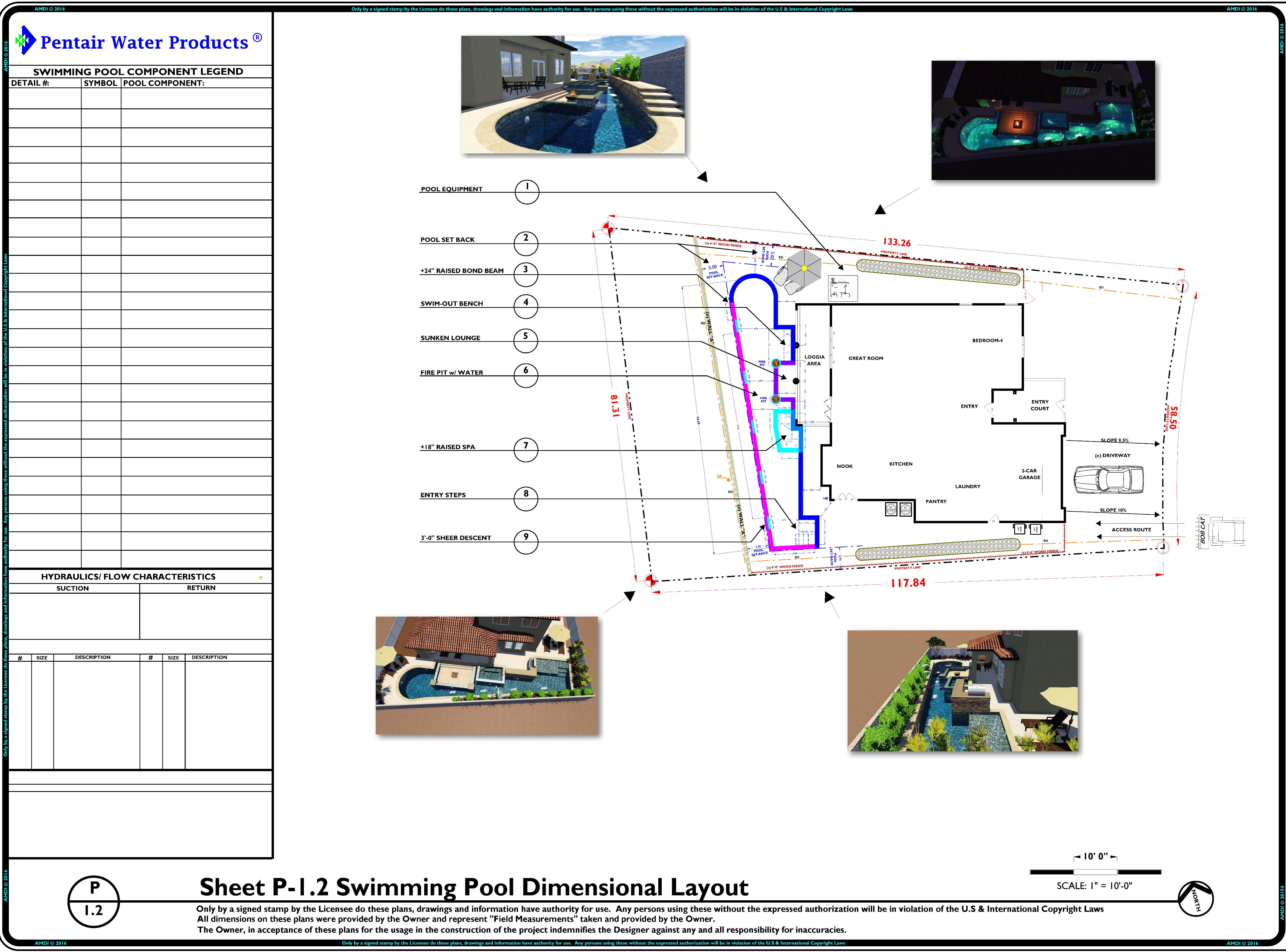 P-1.2 Preliminary Swimming Pool & Spa Site Plan Layout - REV-1
