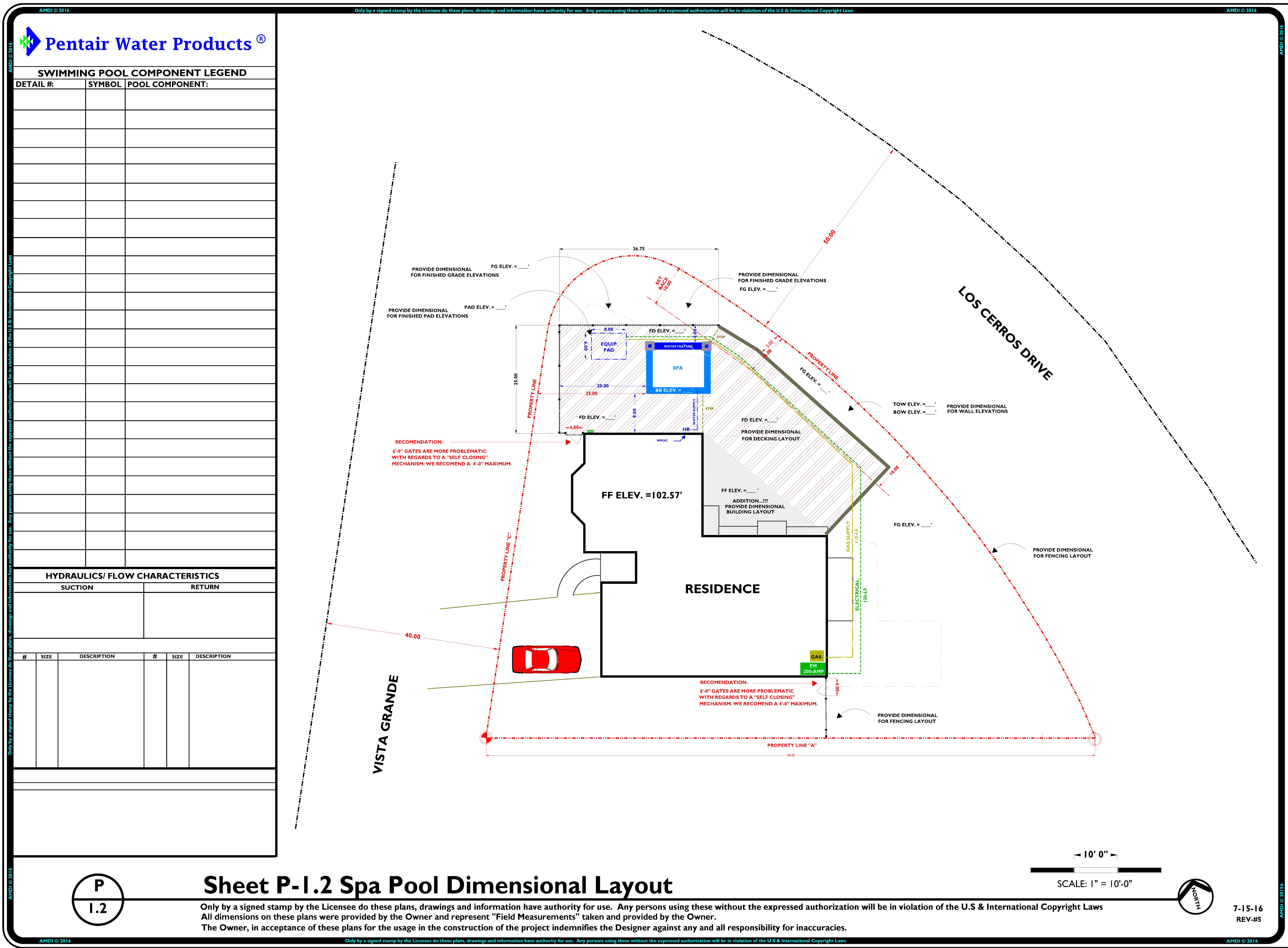PRELIMINARY SITE PLAN - SWIMMING POOL LAYOUT - REV-5