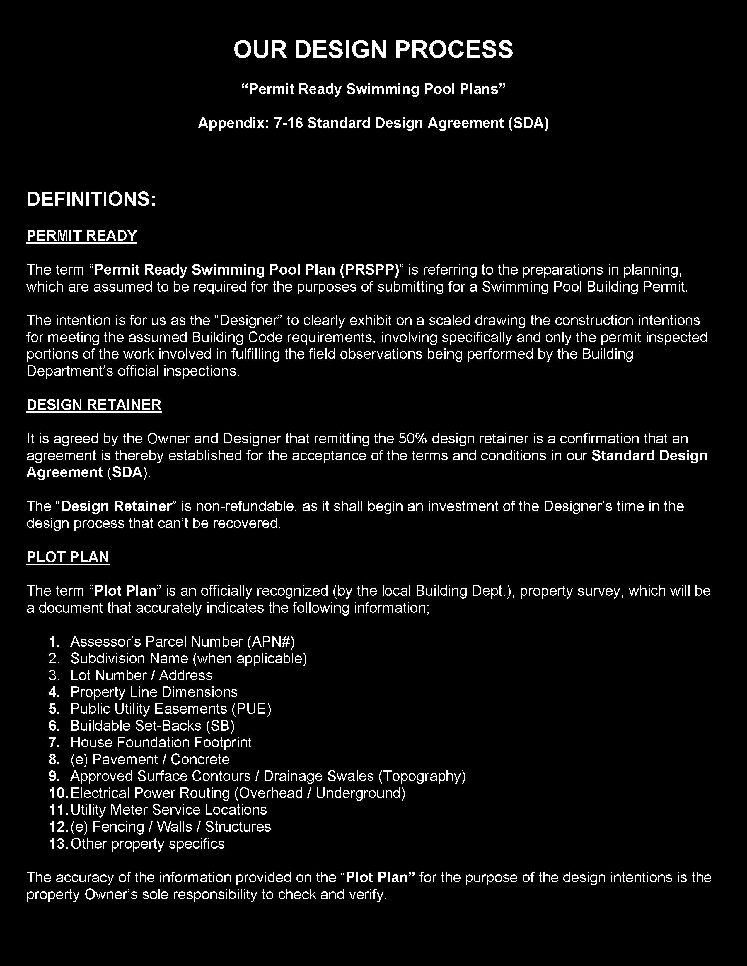 Standard Design Agreement