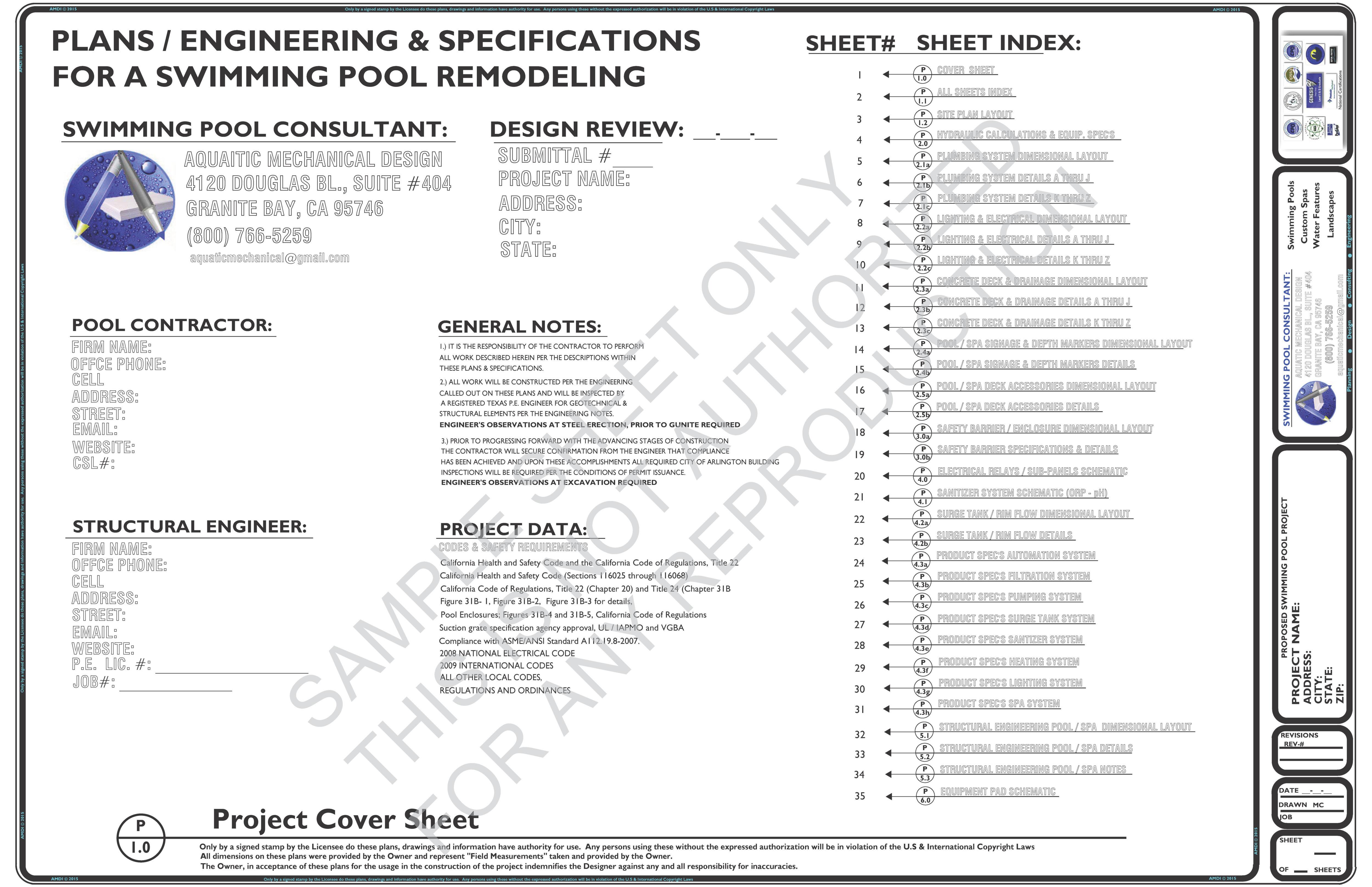 Plan Sheet Index