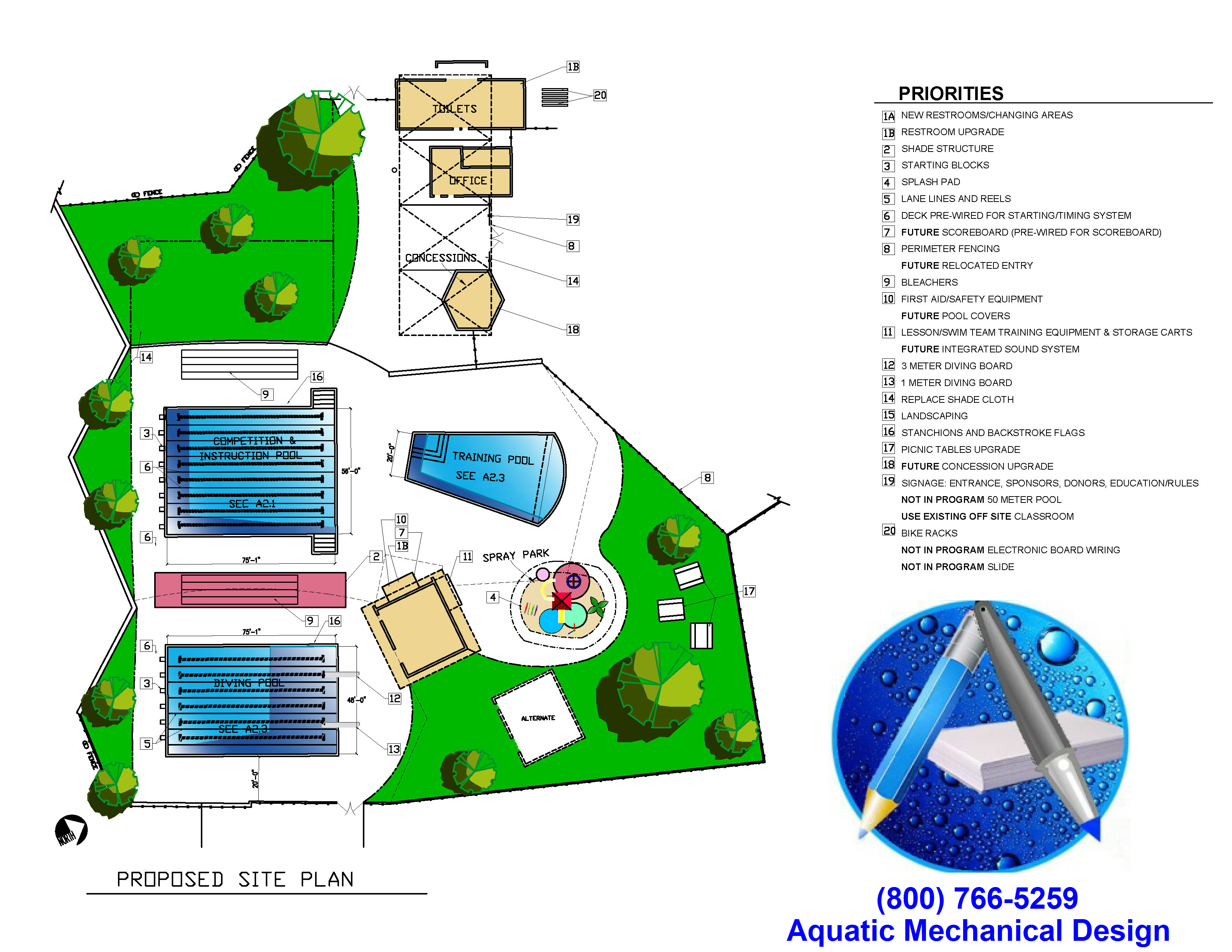 Commercial swimming pool design work scope outline for Pool design and engineering