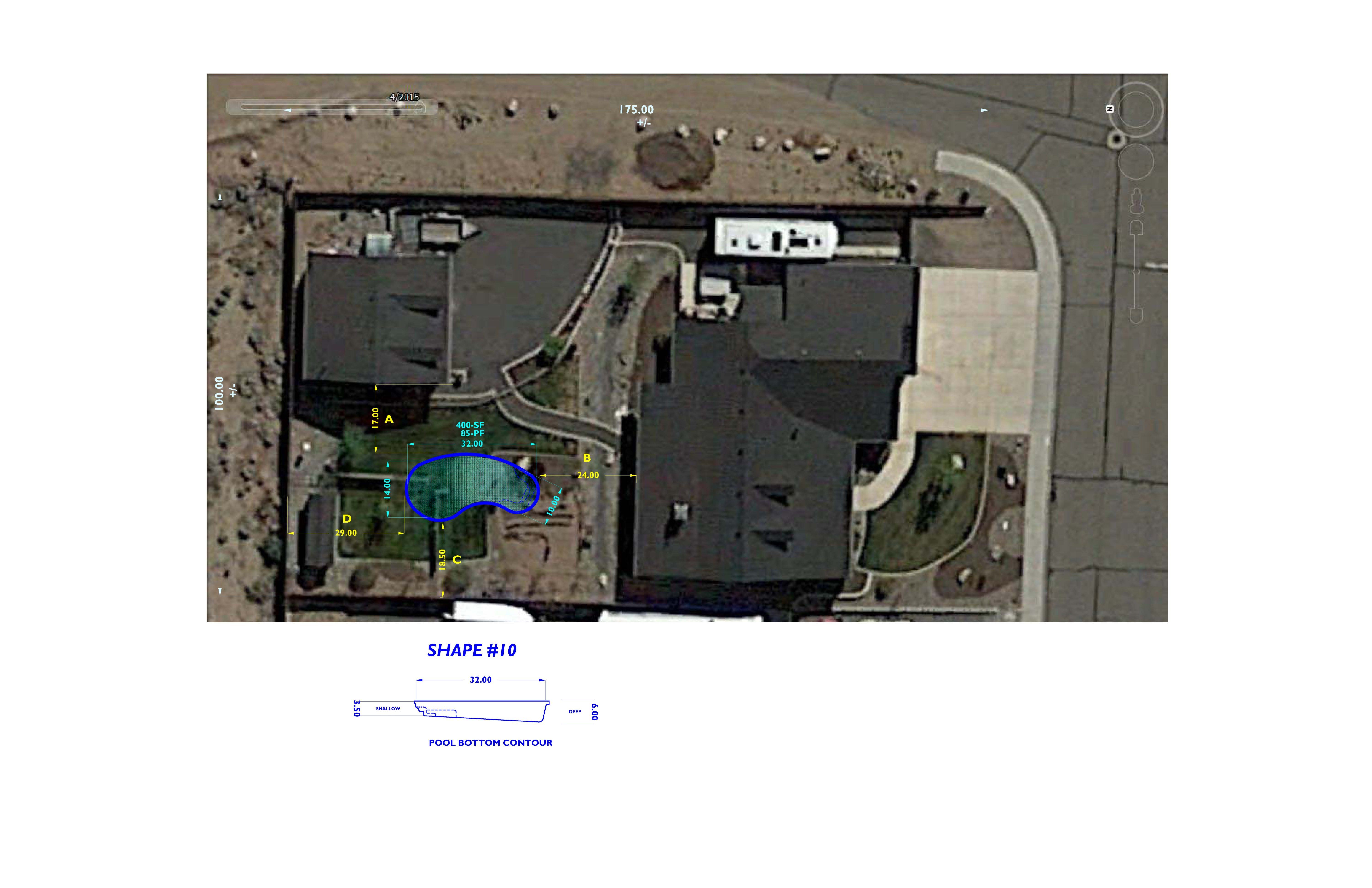 PRELIMINARY CONCEPT #1 SAT-IMAGE - SWIMMING POOL LAYOUT