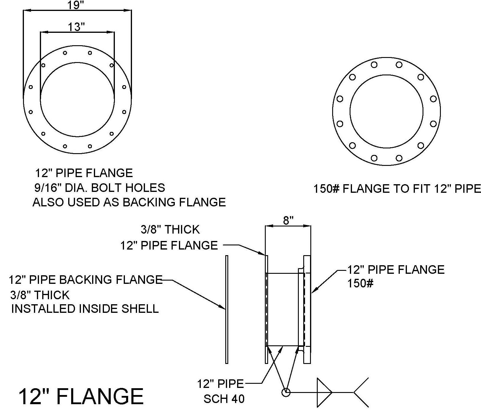 12-in. Flange
