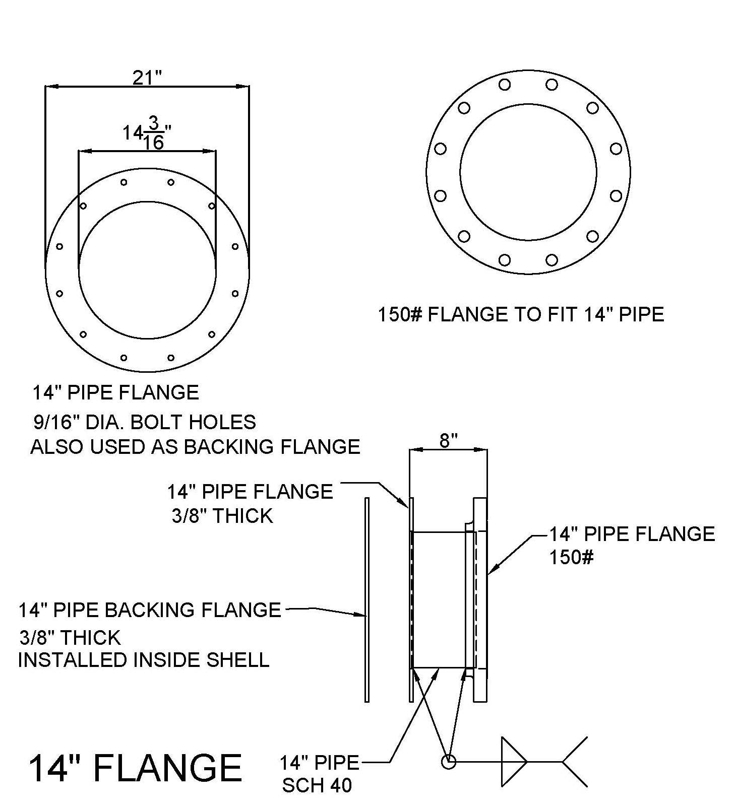 14-in. Flange