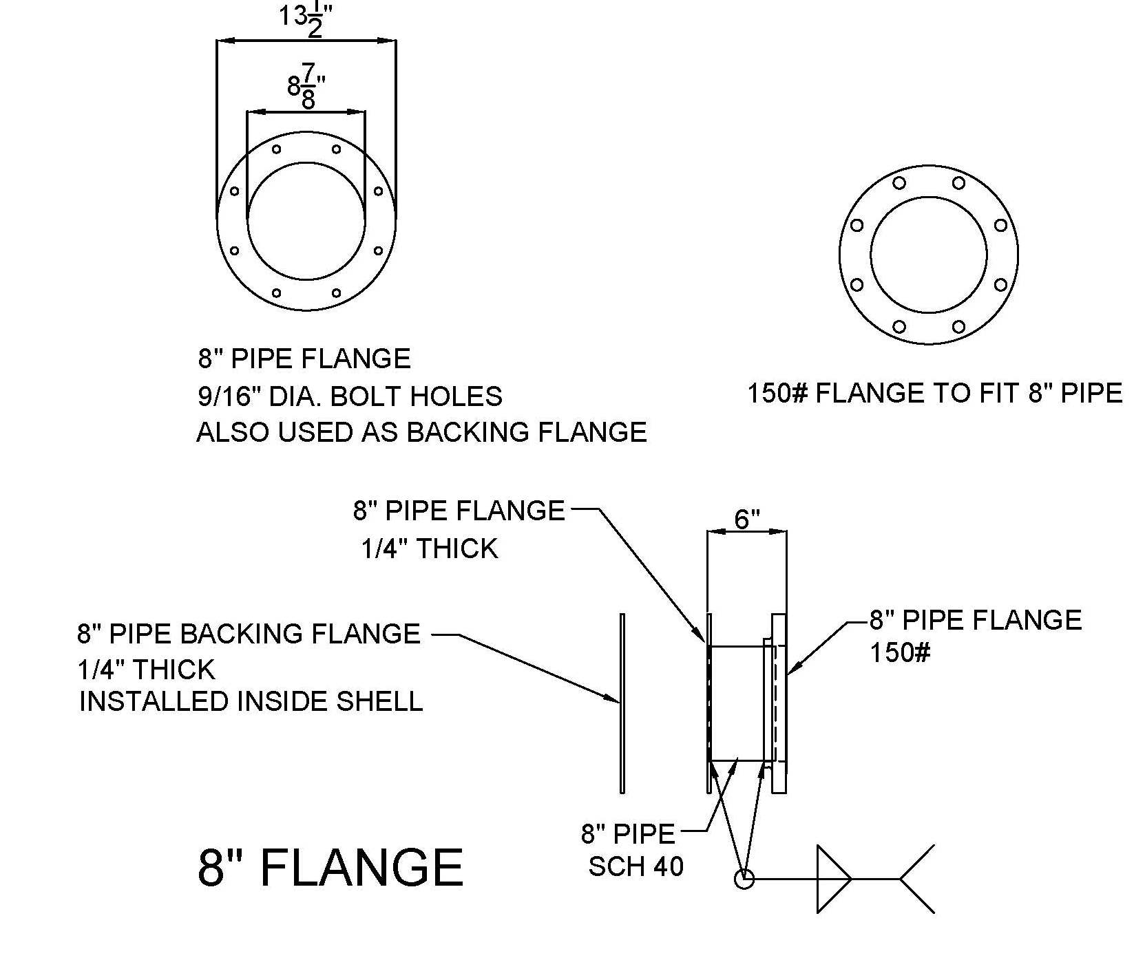 8-in. Flange
