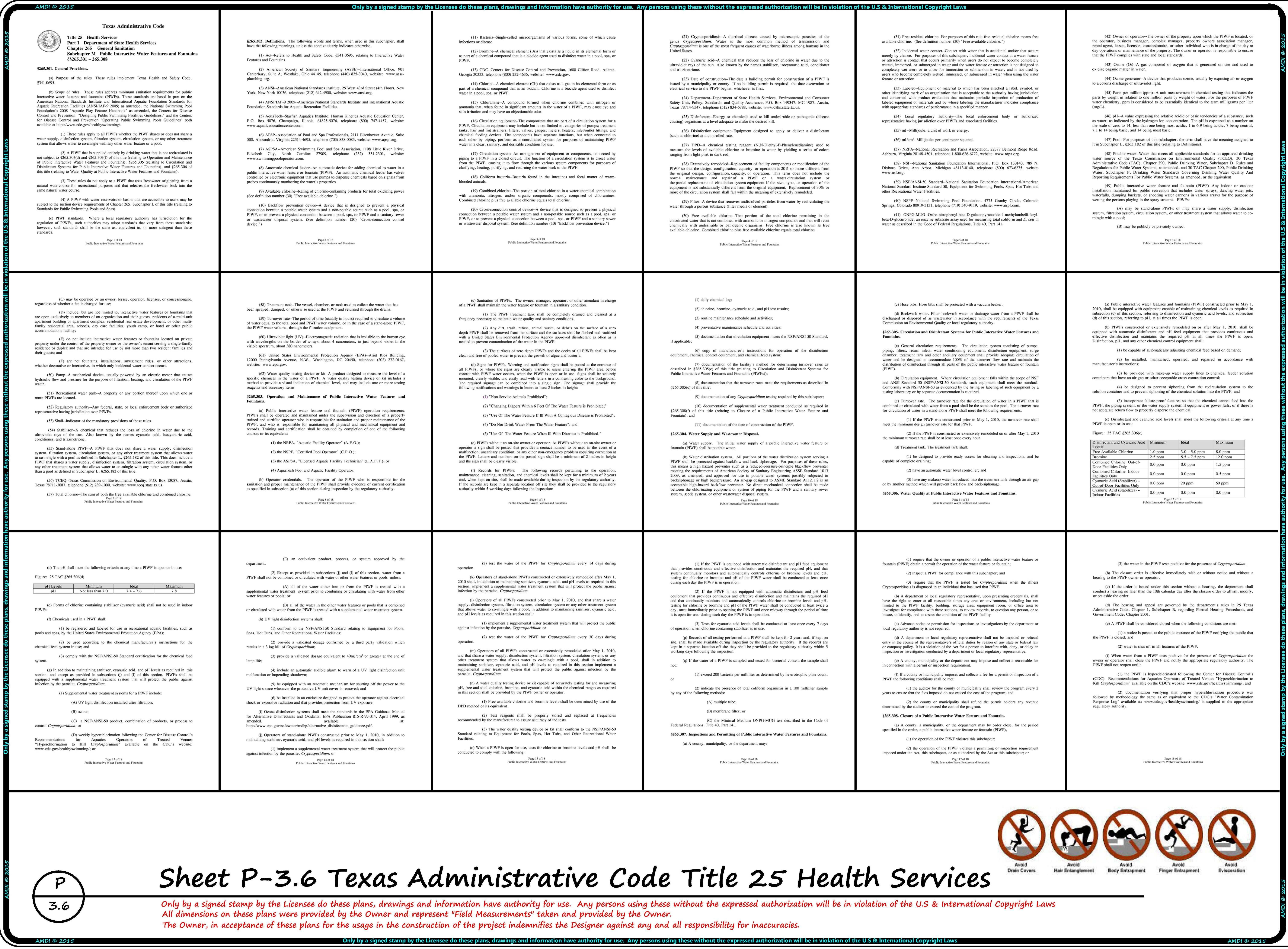 TEXAS ADMINISTRATIVE CODE TITLE 25 Pg. 1 thru 18