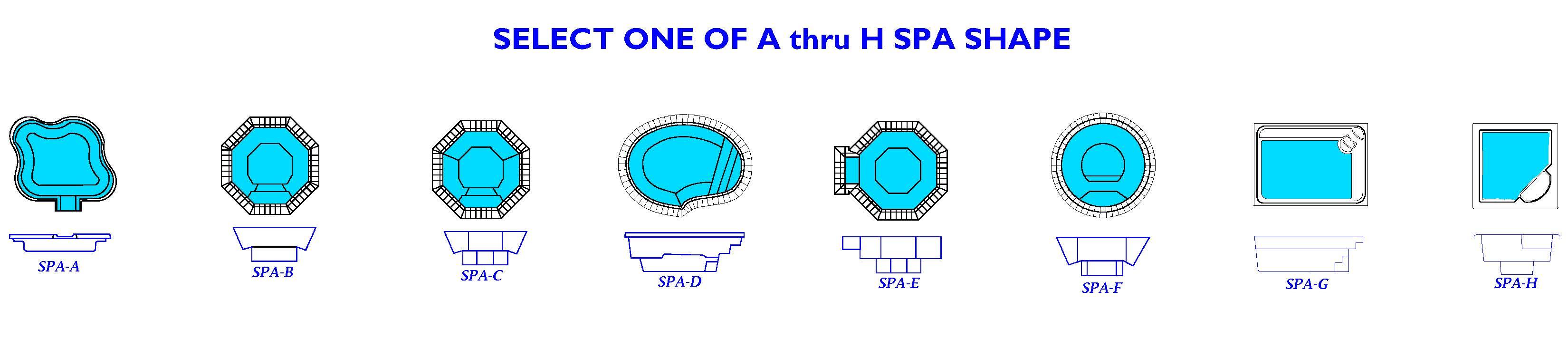 Select a Custom In-Ground Spa Shape