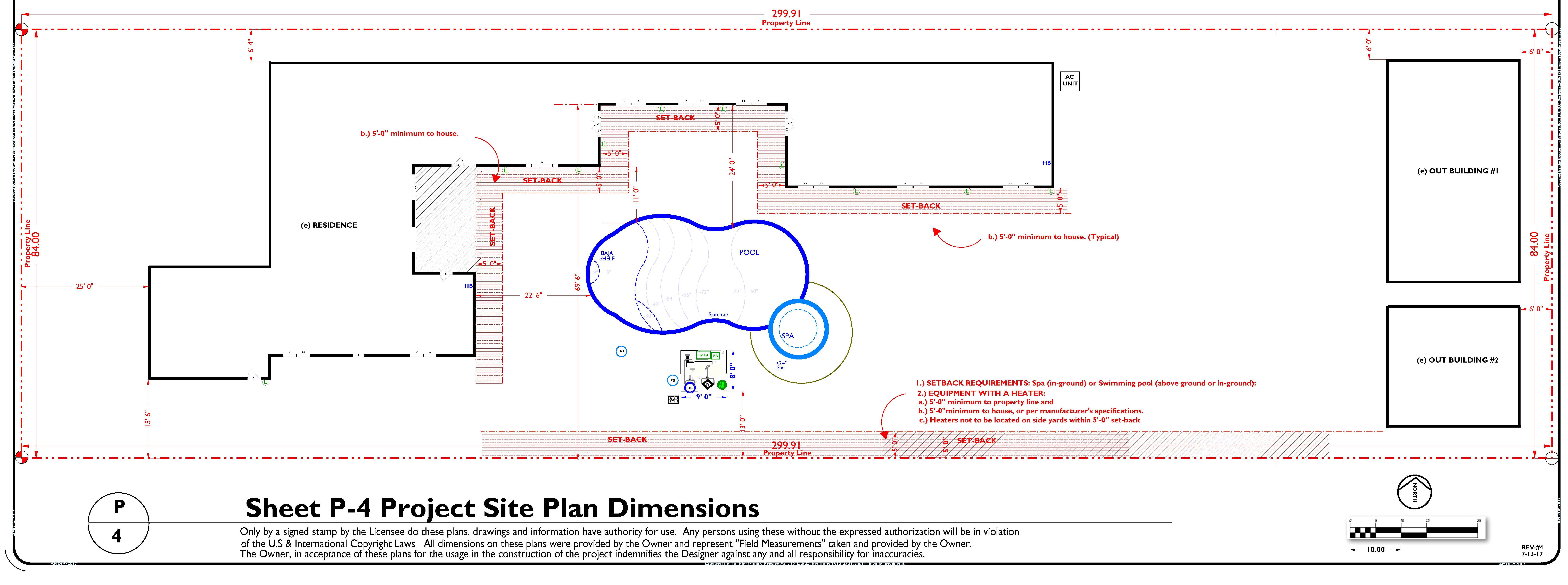 P-4 Preliminary Site Plan Dimensional Layout REV-4