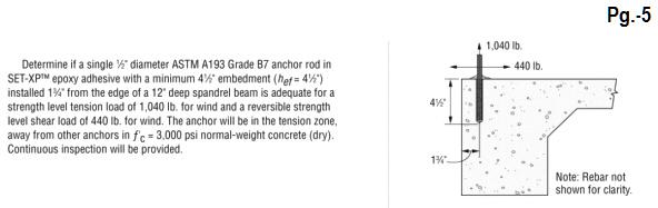 ESR-2508 DOWELS & EPOXY INSTALLATION Pg.-5