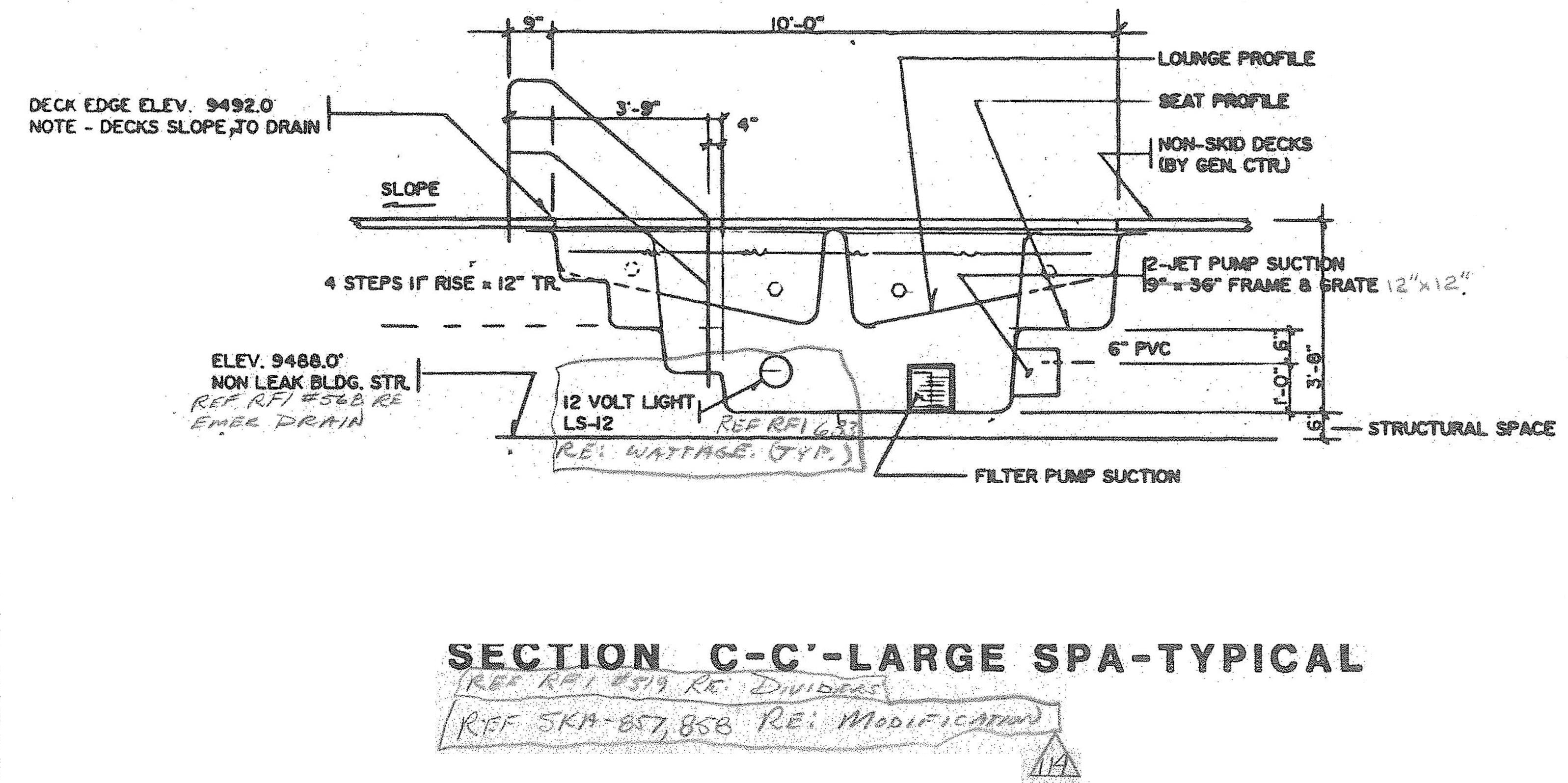 ELEVATION SECTION C-C KIVA SPA-004