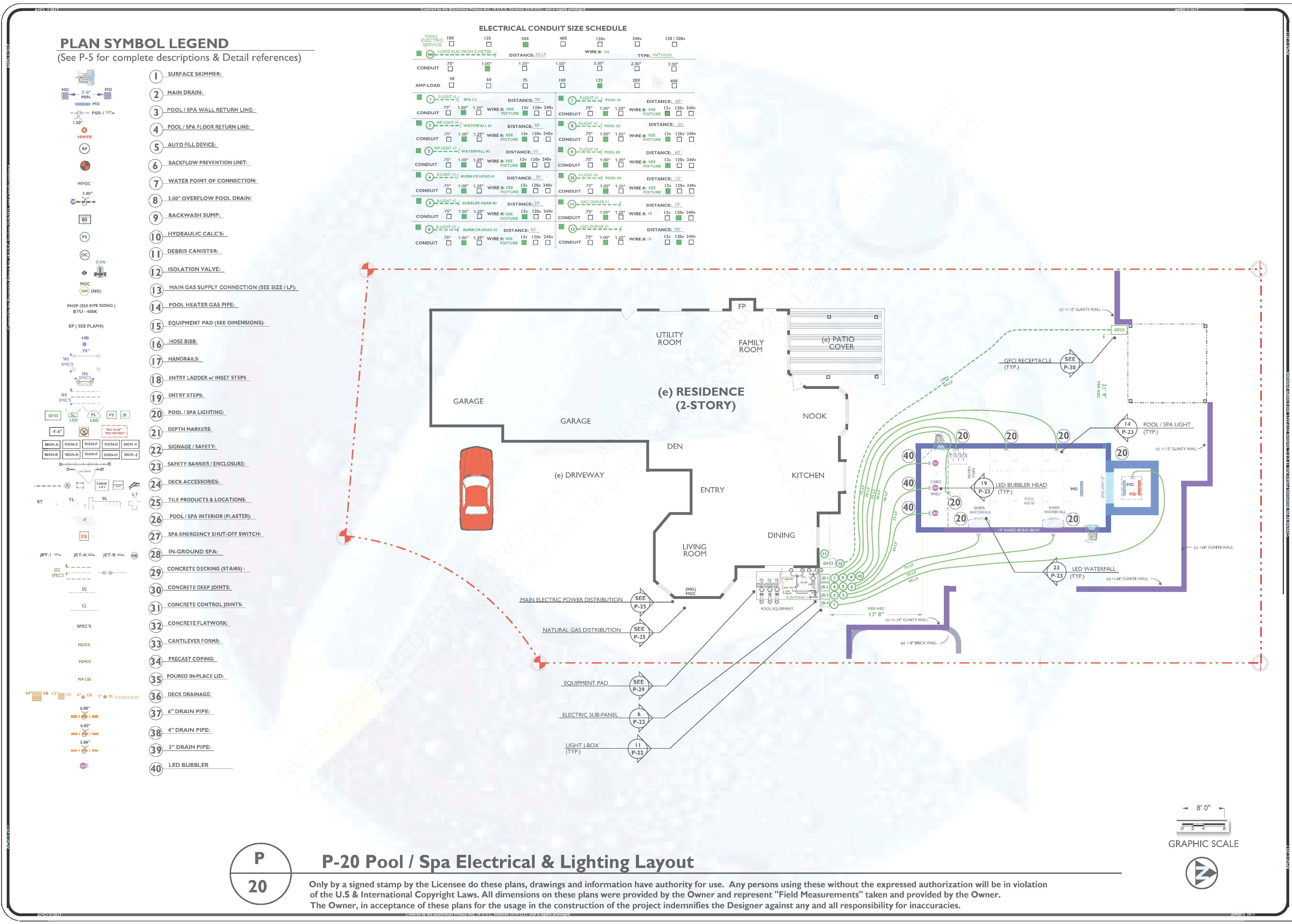 Sample Electrical / Lighting Plan