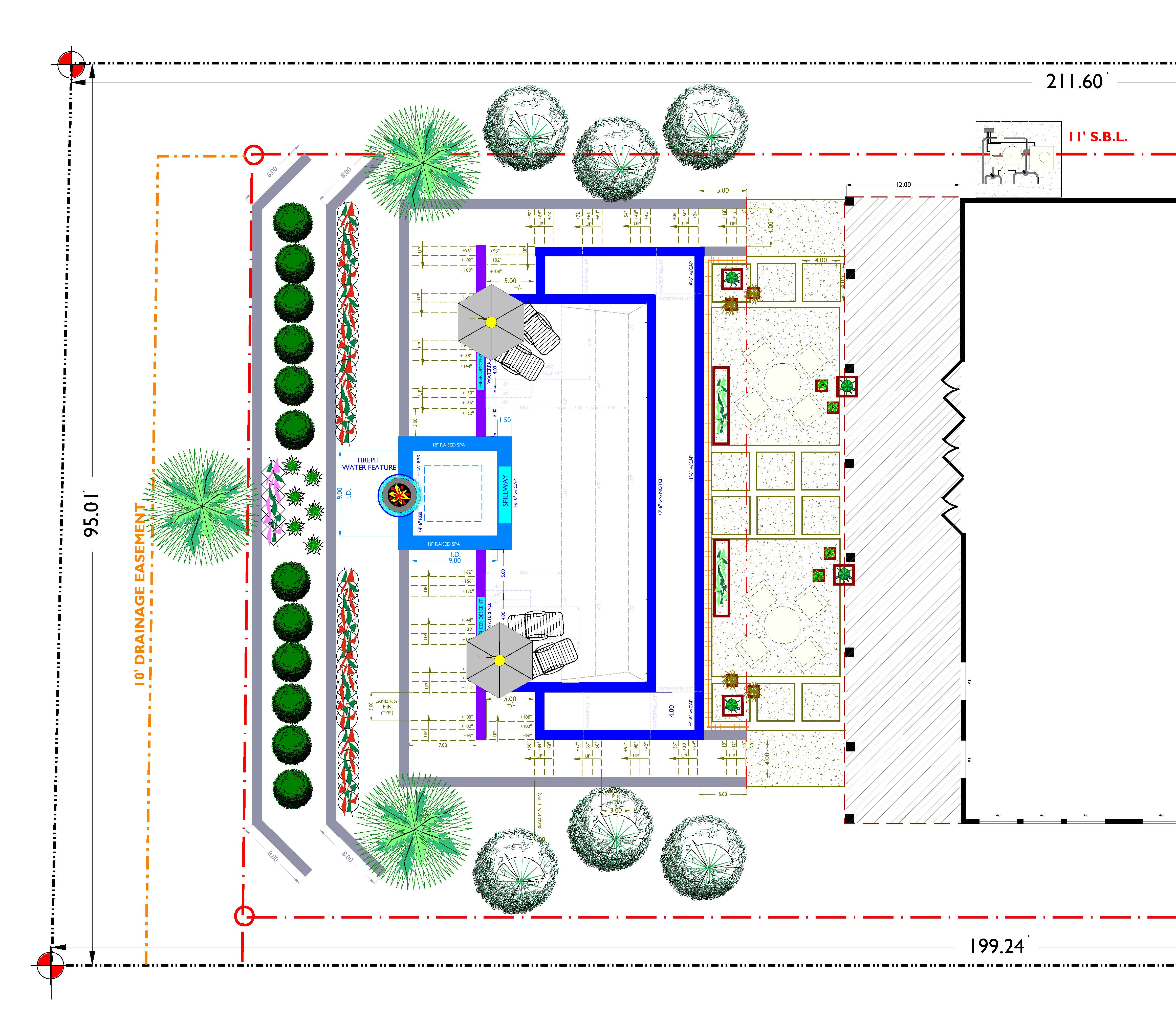 L-1 Preliminary Swimming Landscape Planting Layout