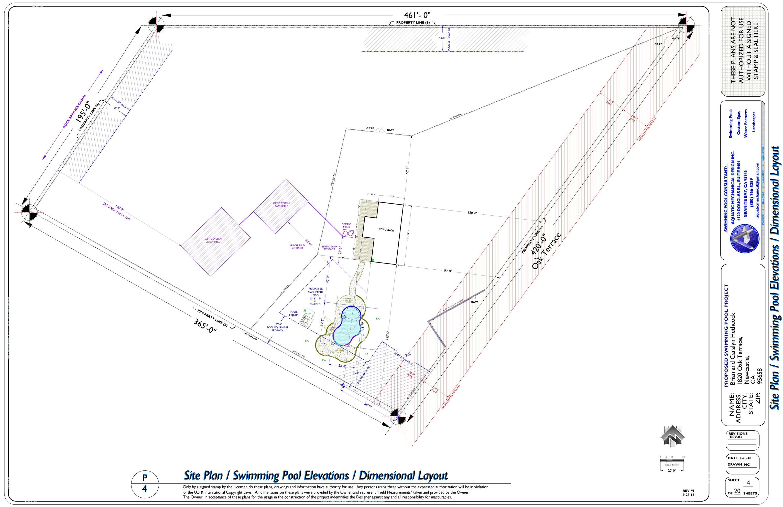 REV-3 SITE PLAN & SWIMMING POOL & CONCRETE DECK LAYOUT