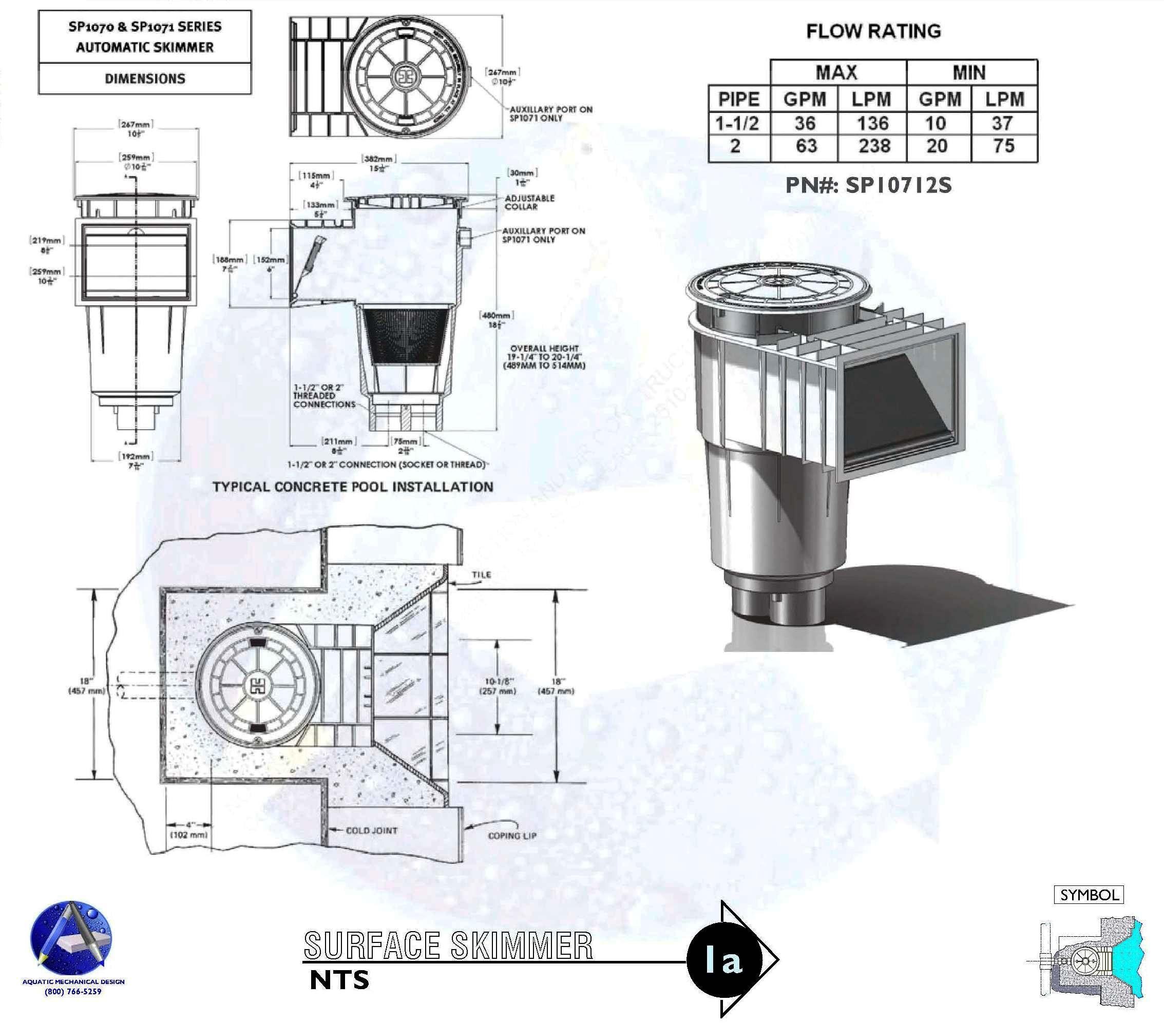 1a Skimmer Installation Detail