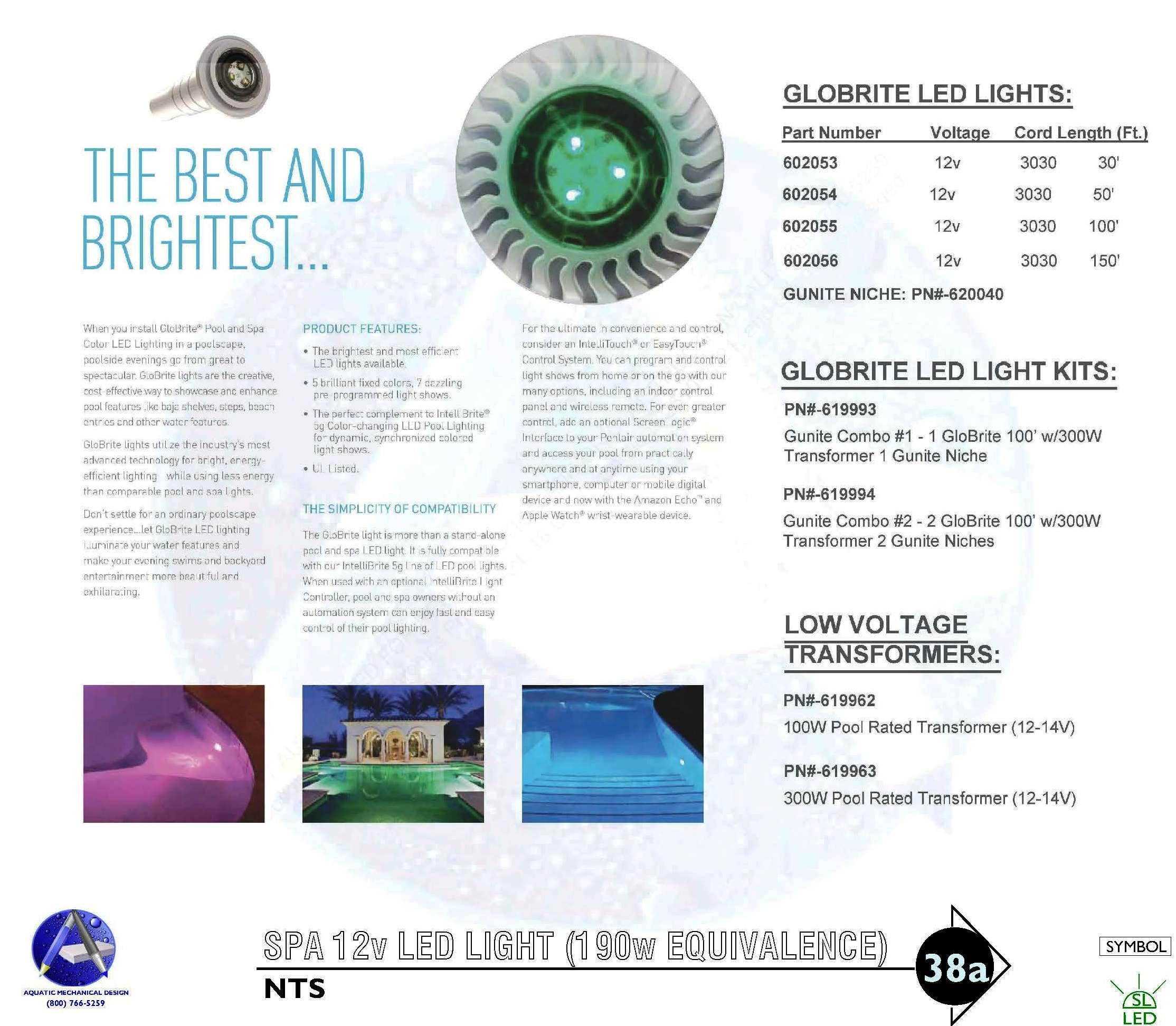 38a Spa Light Installation Detail 12v