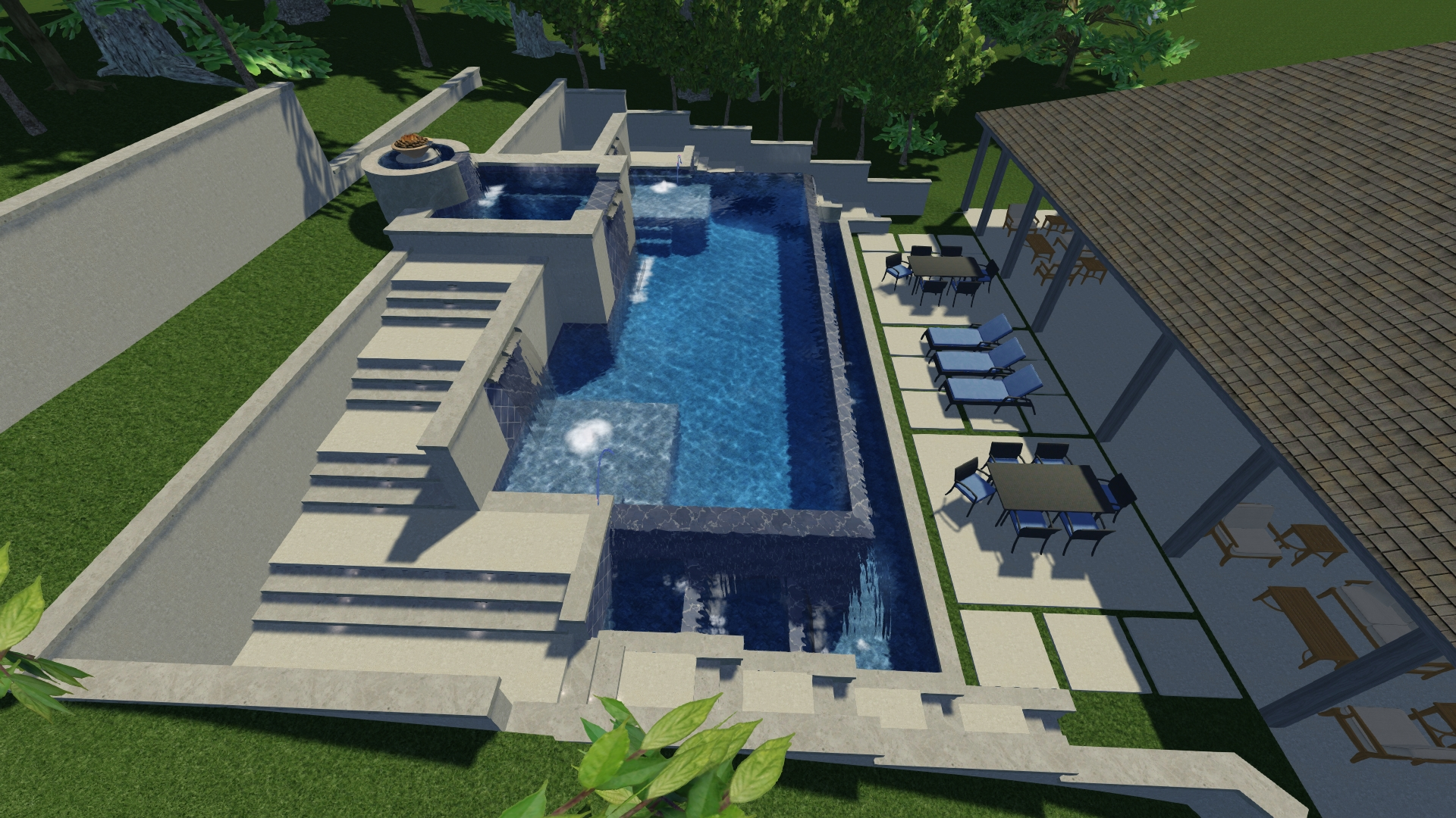Sample Swimming Pool 3-D Concept