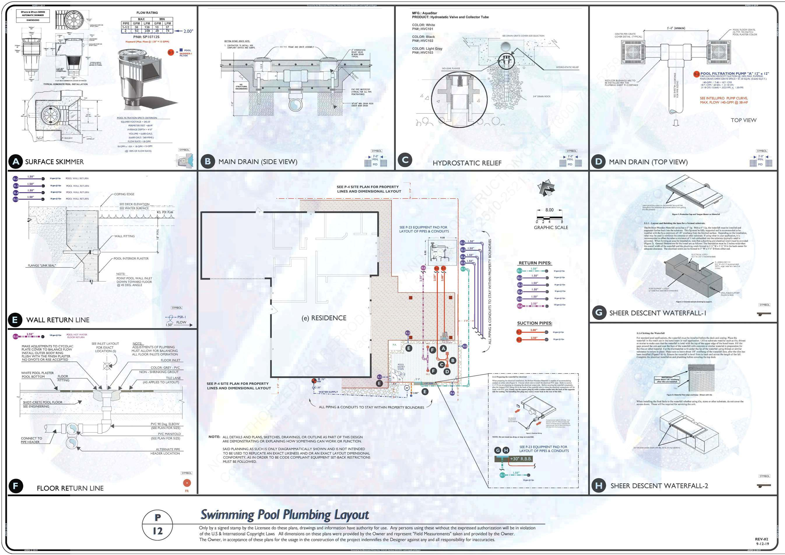 P-12 POOL AND SPA PLUMBING LAYOUT REV-2