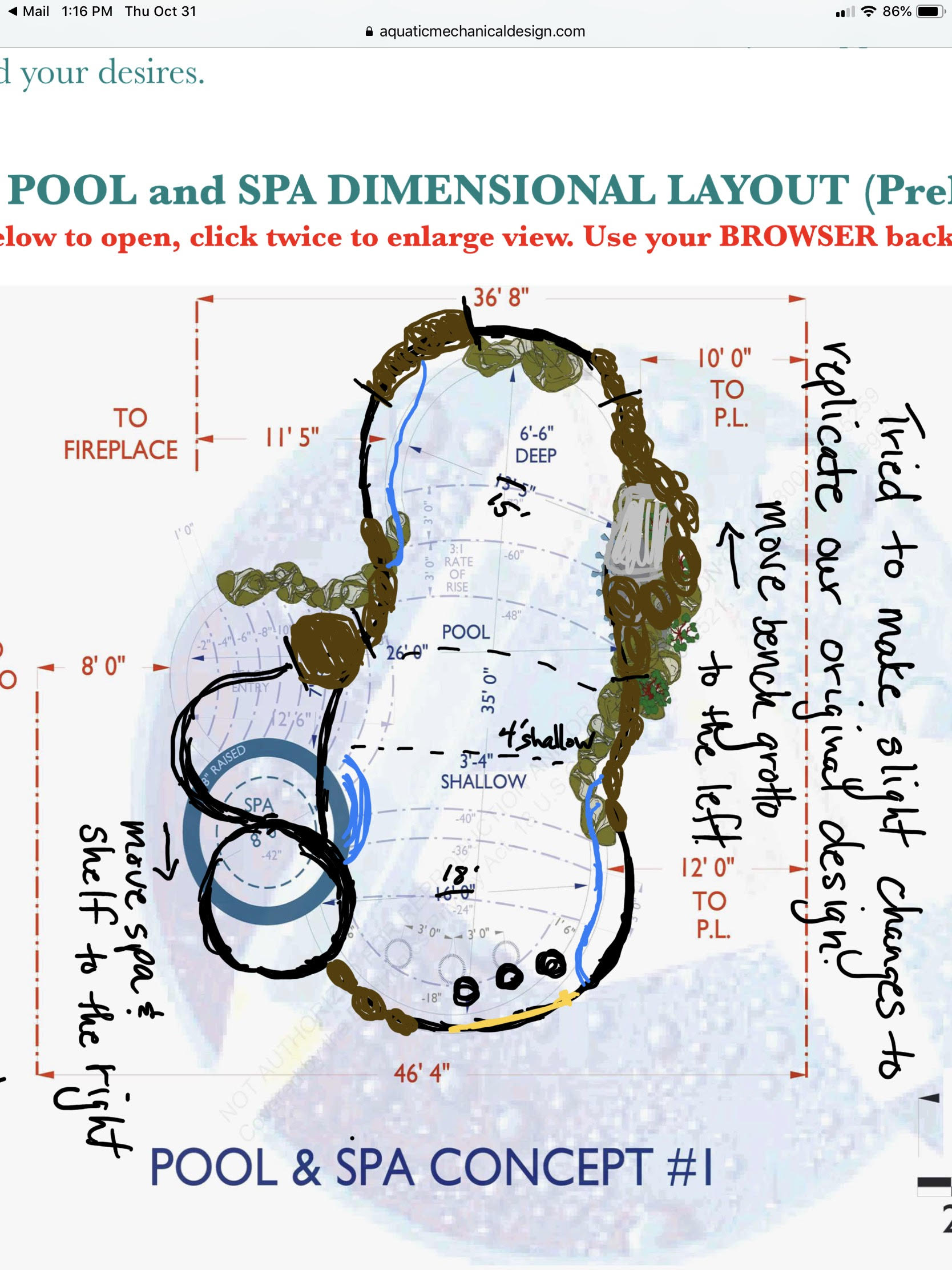 POOL AND SPA LAYOUT REV-4 (Preliminary)