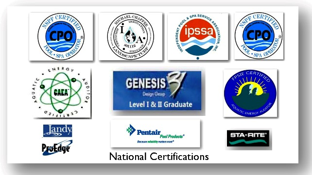 Swimming Pool Industry's most recognizable credentials