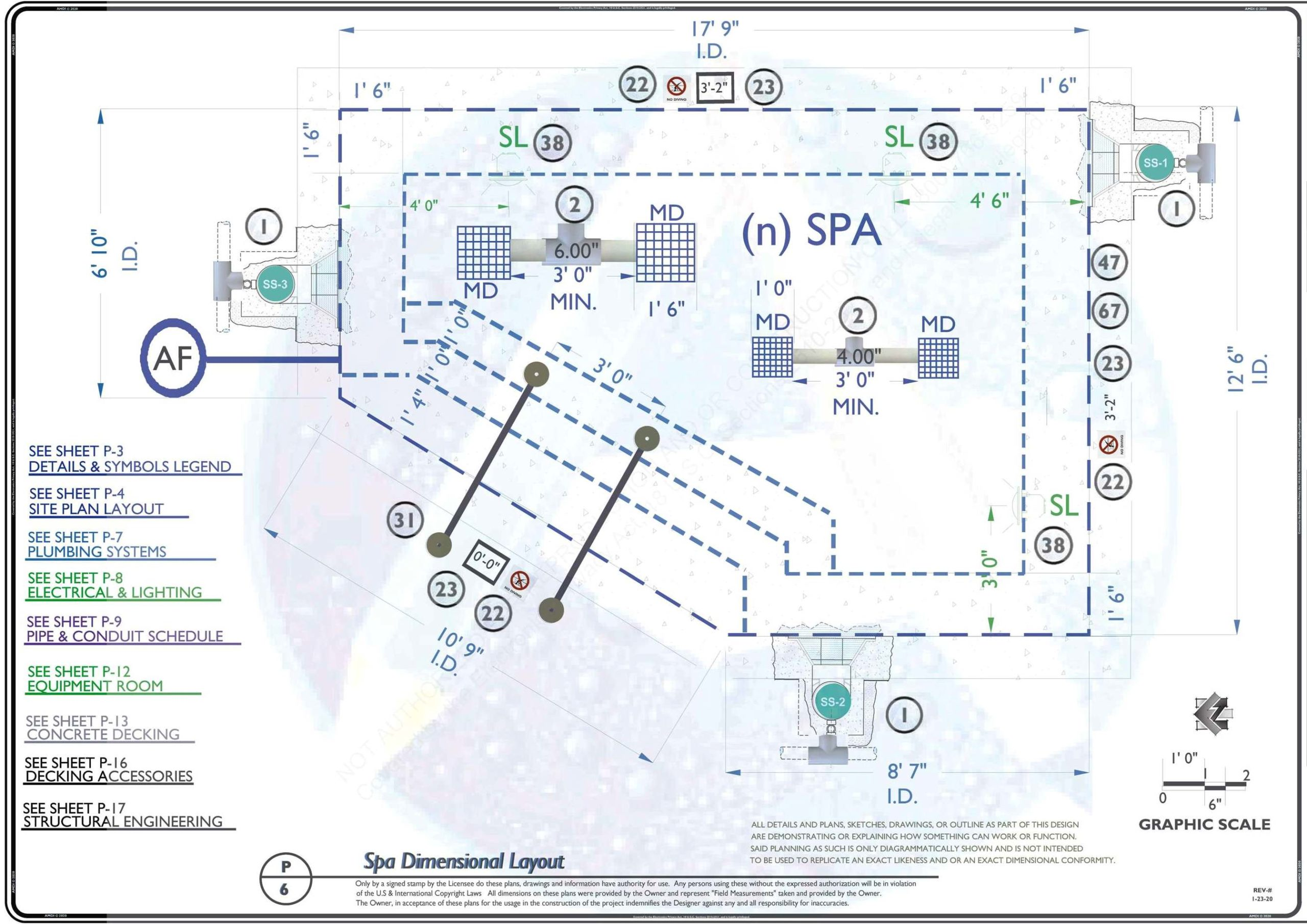 P-6 Spa Dimensional Layout