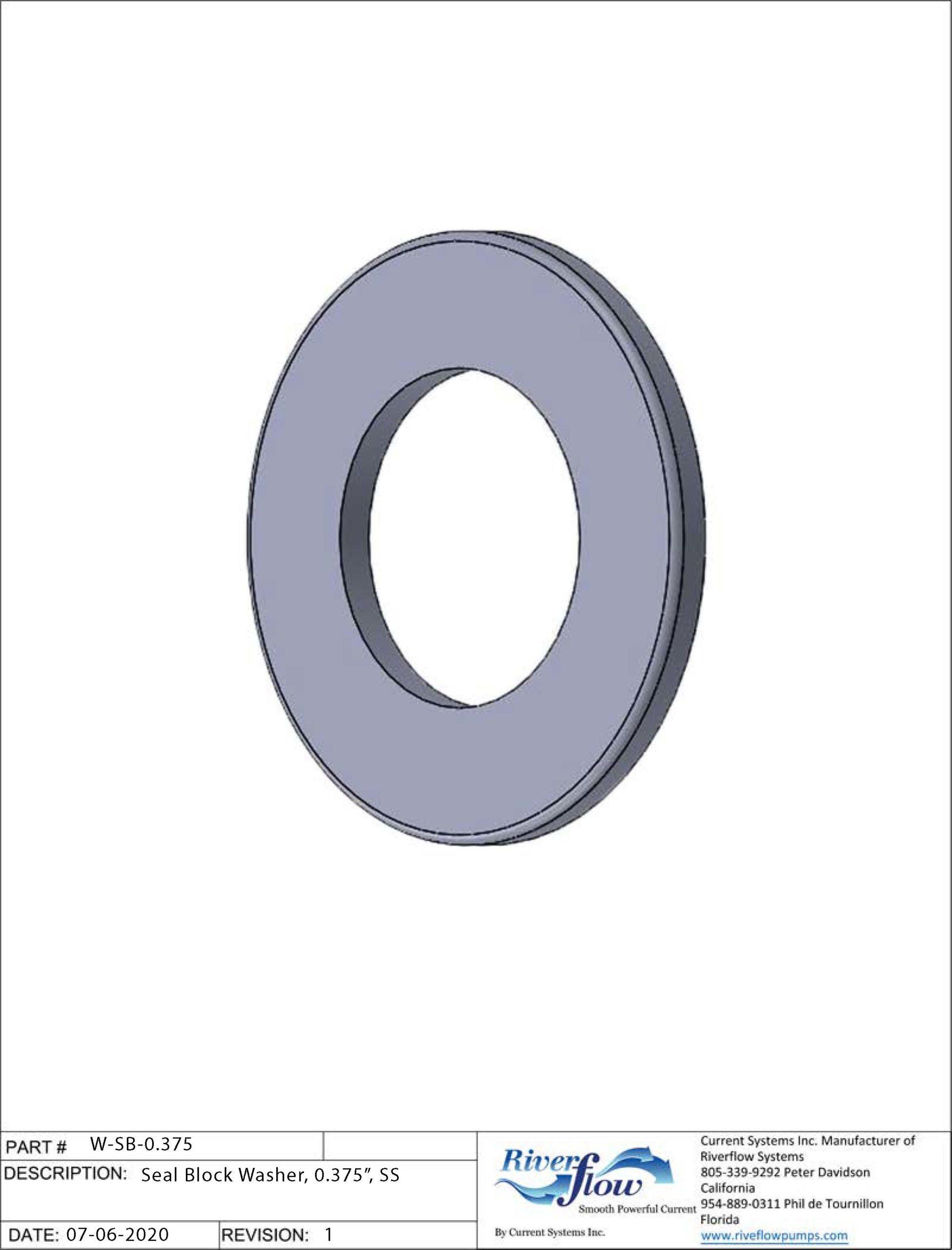 PN#: W-SB-0.375  Seal Block Washer. 0.375