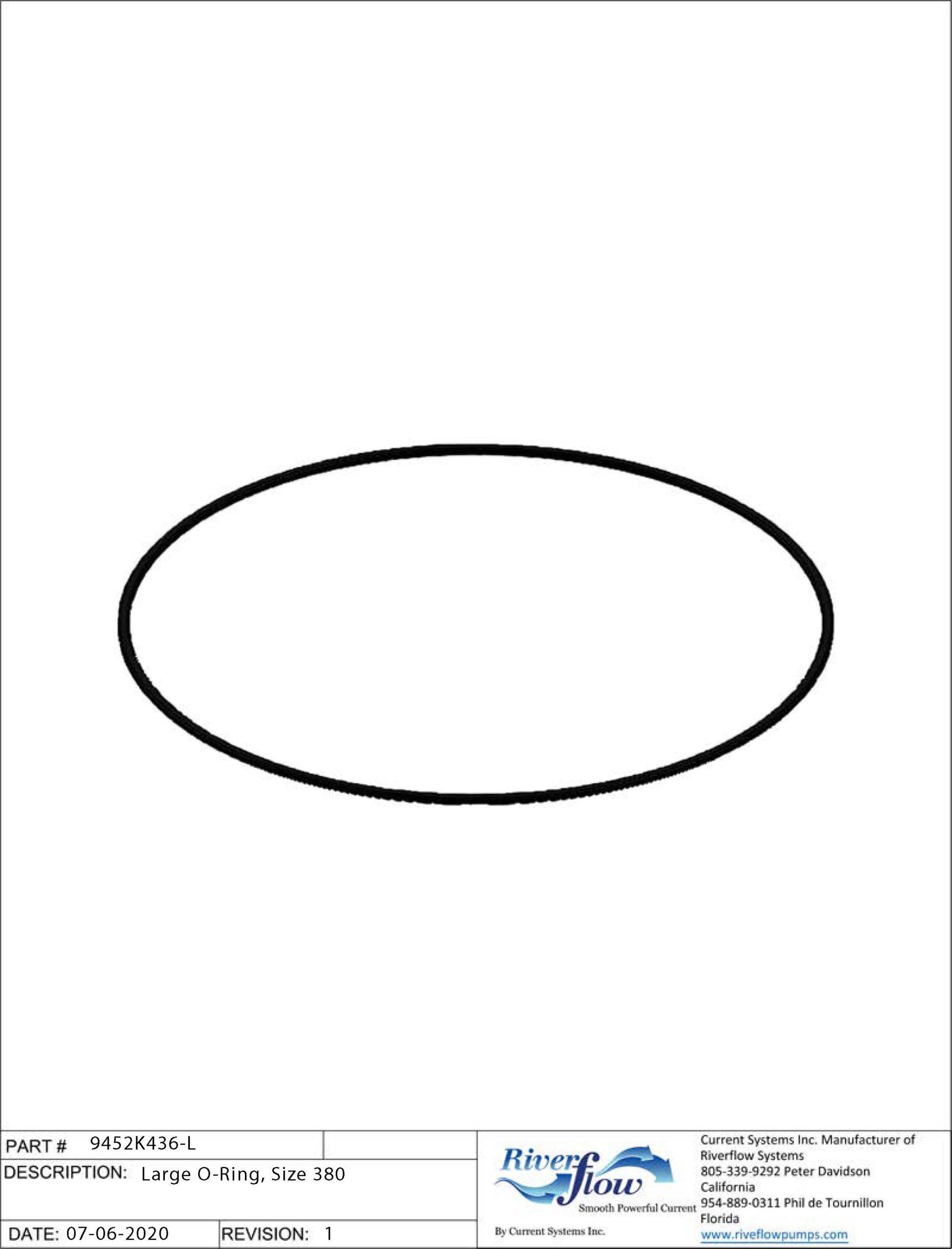 PN#: 9452K436-L  Large O-Ring, Size 380