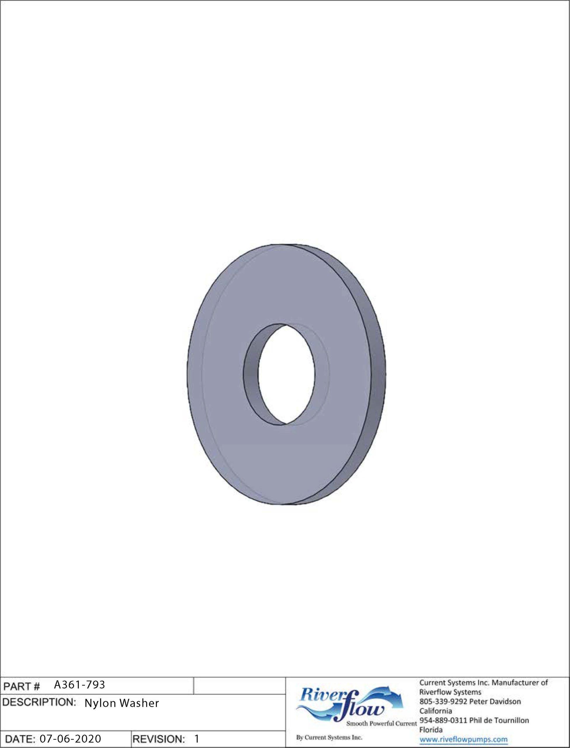 PPN#: A361-793  Nylon Washer